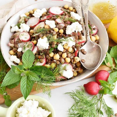Lemony Lentil and Chickpea Salad Recipe–Homemade Lemony Lentil and Chickpea Salad–Easy Lemony Lentil and Chickpea Salad