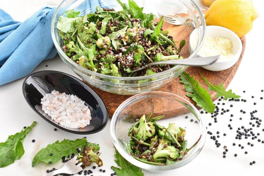 How to serve Lemony Roasted Broccoli, Arugula and Lentil Salad