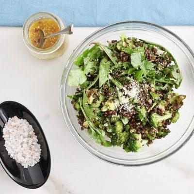 Lemony Roasted Broccoli, Arugula and Lentil Salad recipe - step 6