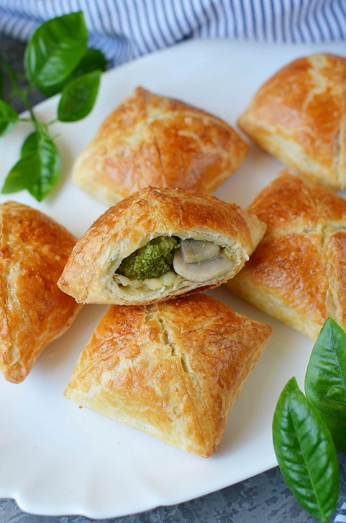 Mushroom, Broccoli and Cheese Party Pastries