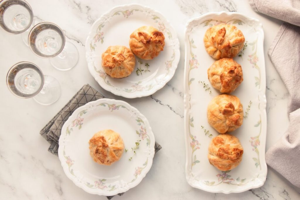 How to serve Mini Cheeseburger Pastry Bundles