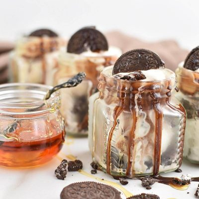 Mud Pie in a Jar Recipe–Homemade Mud Pie in a Jar–Easy Mud Pie in a Jar