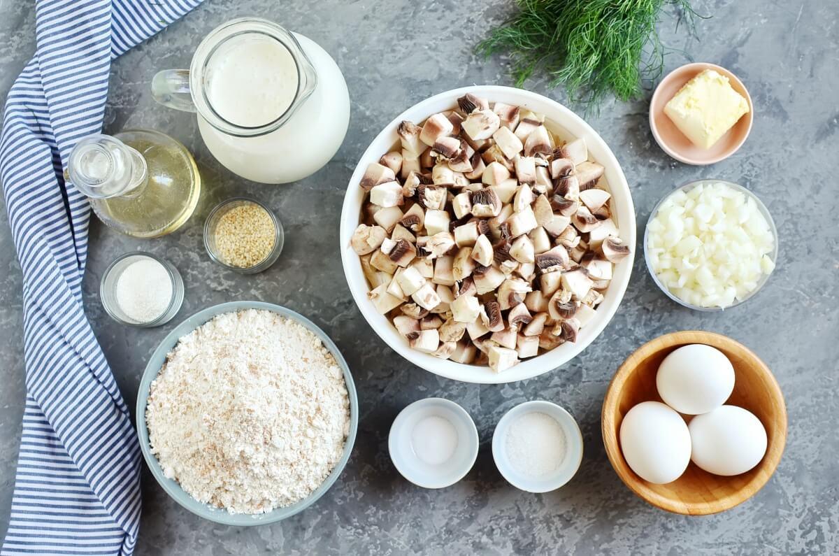 Ingridiens for Mushroom Pie