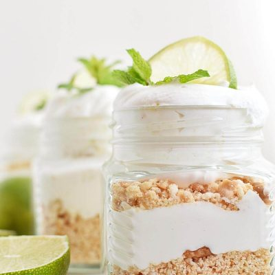 No Bake Key Lime Pie in a Jar Recipe–Homemade No Bake Key Lime Pie in a Jar–Easy No Bake Key Lime Pie in a Jar