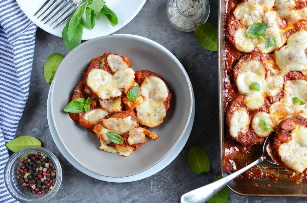 How to serve No-Fry Sheet-Pan Eggplant Parmesan