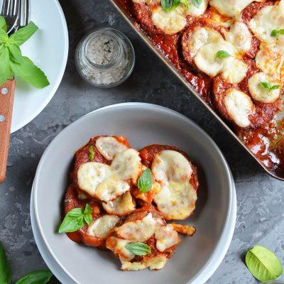 No-Fry Sheet-Pan Eggplant Parmesan Recipe-How To Make No-Fry Sheet-Pan Eggplant Parmesan-Delicious No-Fry Sheet-Pan Eggplant Parmesan