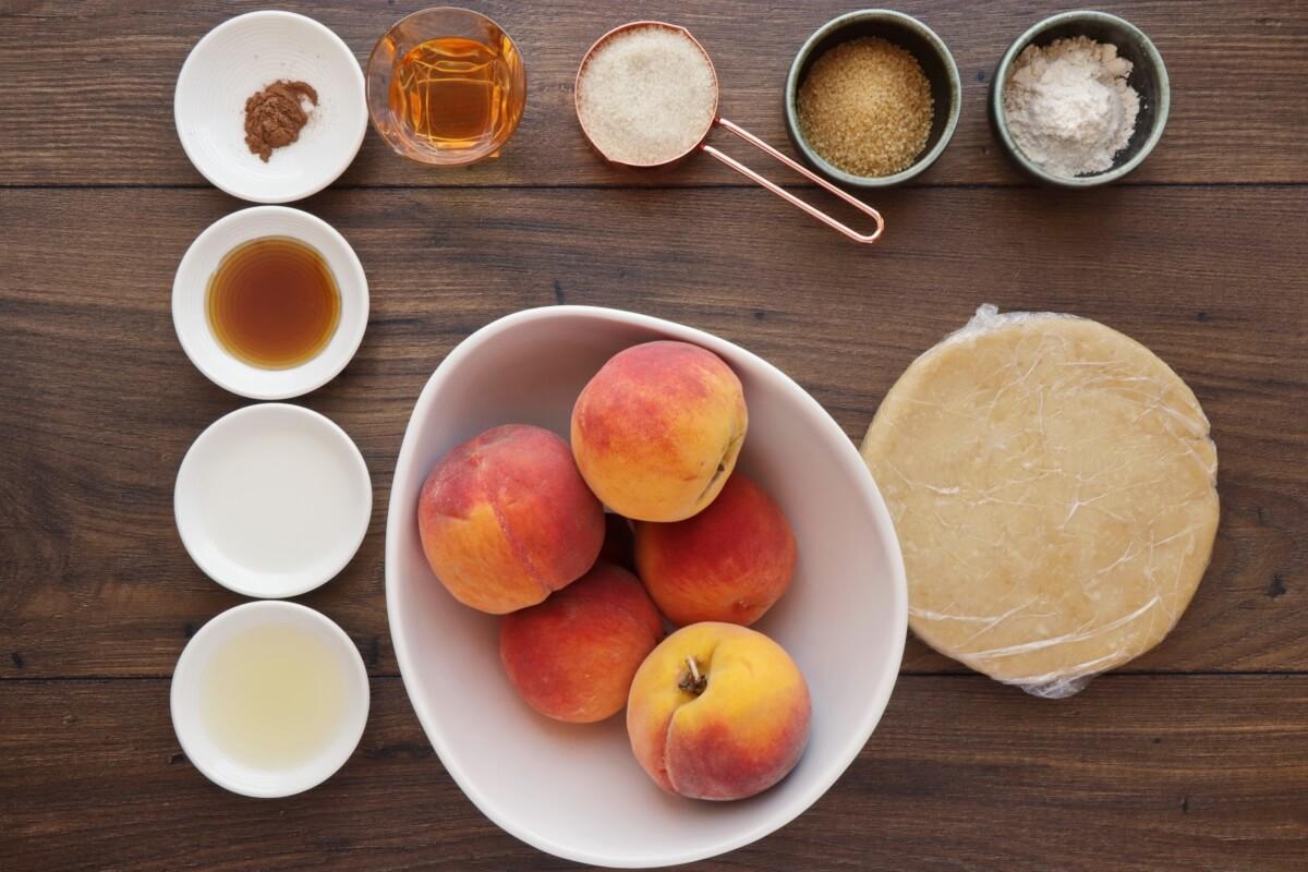 Ingridiens for Fresh Peach Crostata