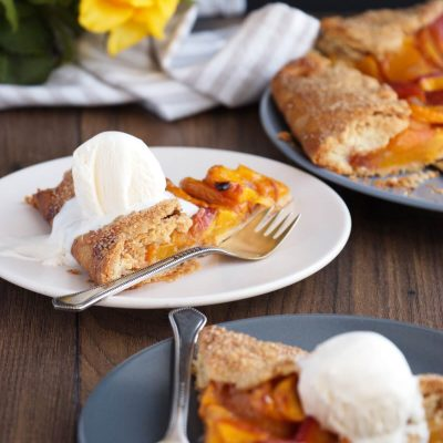 Peach Crostata Recipe-Fresh Peach Crostata-Easy Fresh Peach Crostata