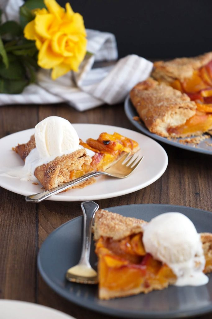 Quick and easy peach tart