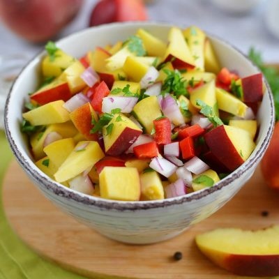 Peach and Nectarine Salsa Recipe-How To Make Peach and Nectarine Salsa-Delicious Peach and Nectarine Salsa