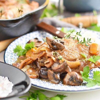 Quick One Pan Coq Au Vin Blanc Recipe–Homemade Quick One Pan Coq Au Vin Blanc–Easy Quick One Pan Coq Au Vin Blanc