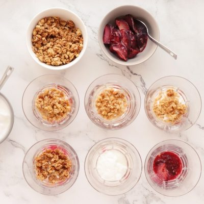 Roasted Plum Breakfast Parfaits recipe - step 4