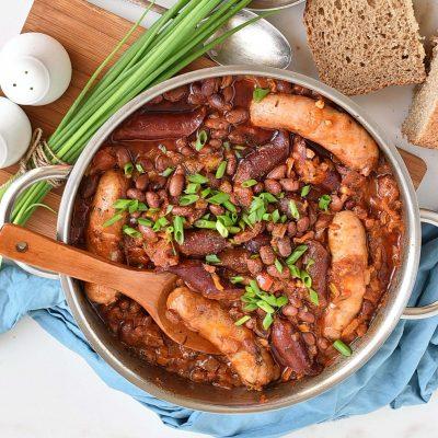 Sausage & bean casserole Recipe–Homemade Sausage & bean casserole–Easy Sausage & bean casserole