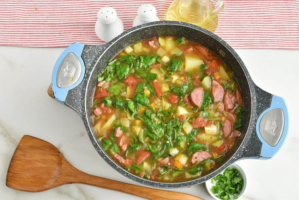 Smoked Sausage and Vegetable Soup recipe - step 7
