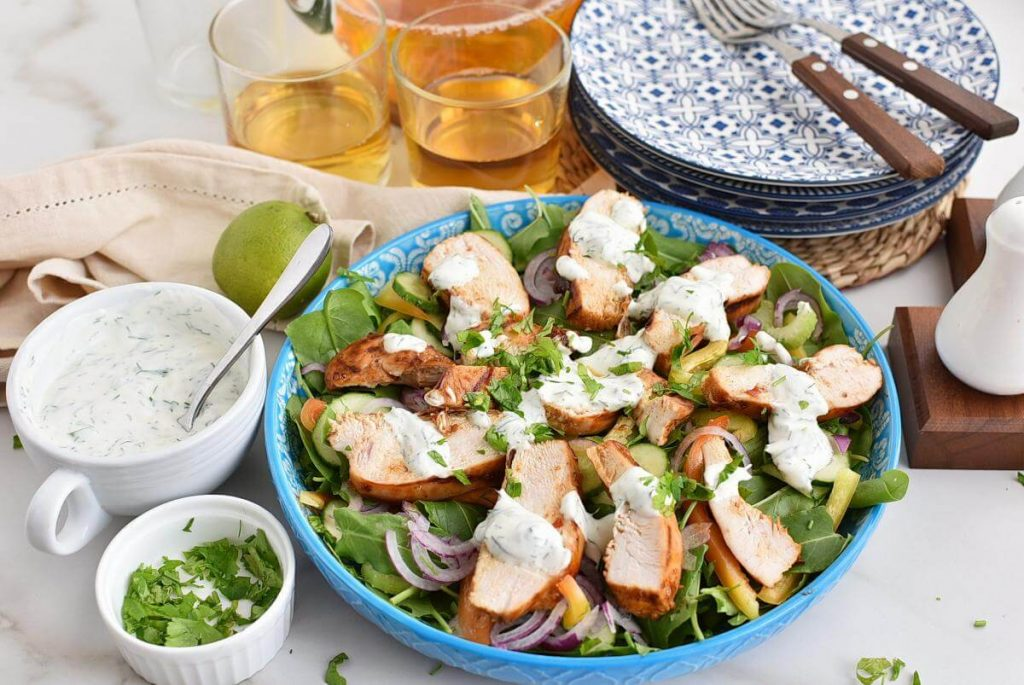 Spicy Grilled Chicken Salad Recipe–Homemade Spicy Grilled Chicken Salad–Easy Spicy Grilled Chicken Salad