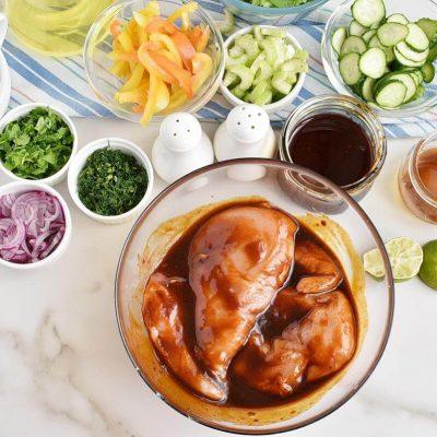 Spicy Grilled Chicken Salad recipe - step 1