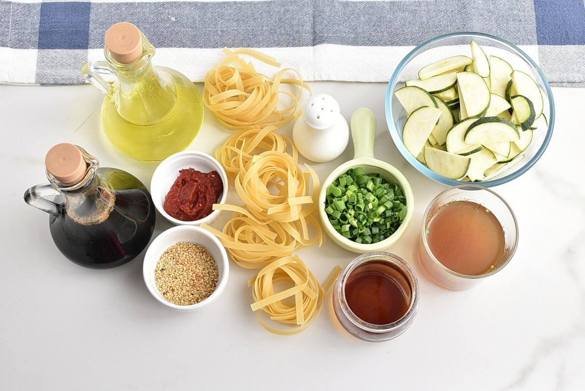 Ingridiens for Thai Zucchini Noodles