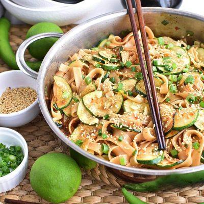 Thai Zucchini Noodles Recipe–Homemade Thai Zucchini Noodles–Easy Thai Zucchini Noodles