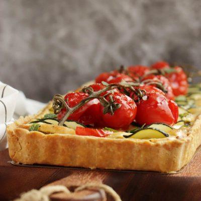 Zucchini Tart Recipe-Tomato Zucchini Tart-Easy Tomato Zucchini Tart
