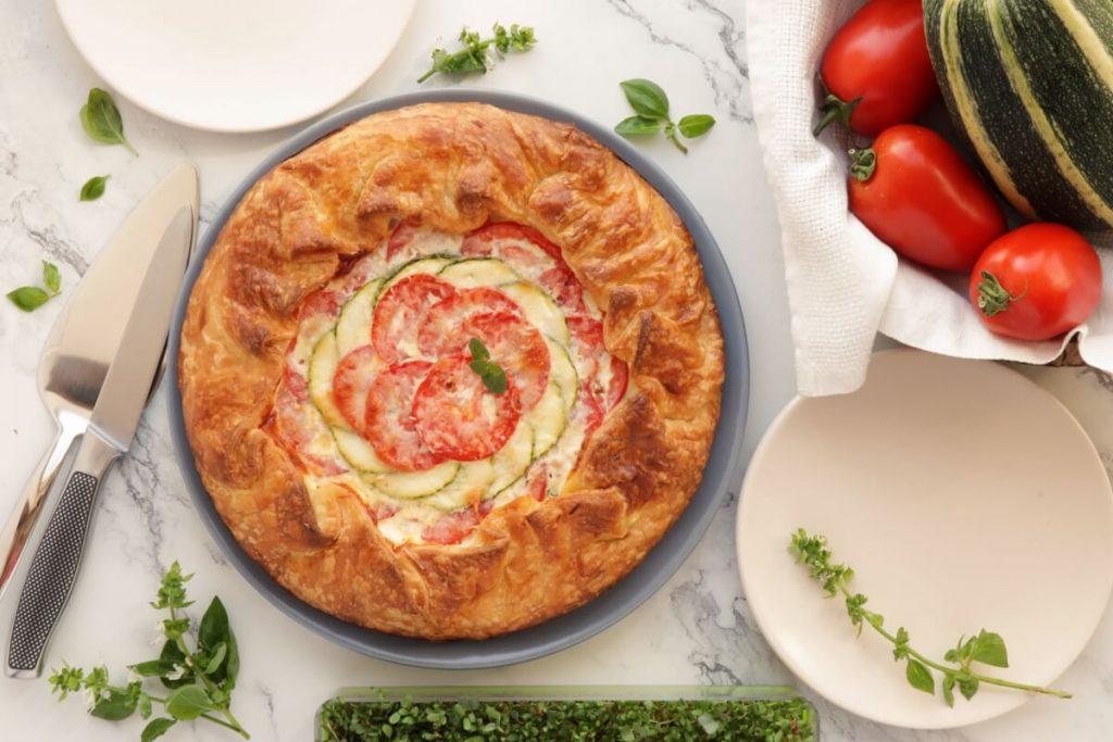 How to serve Zucchini, Tomato and Mozzarella Tart