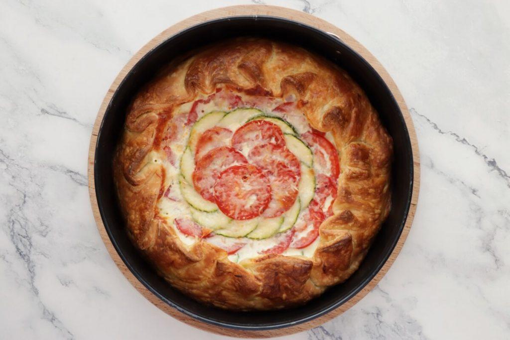 Zucchini, Tomato and Mozzarella Tart recipe - step 6