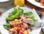 Buttermilk Chicken with Peach Salsa