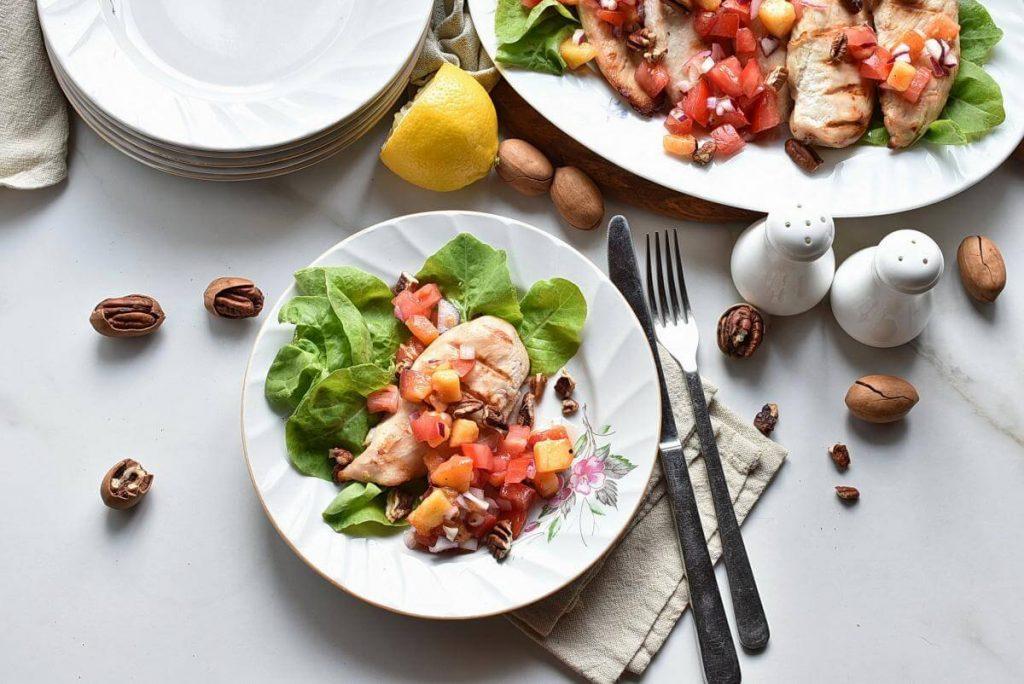 How to serve Buttermilk Chicken with Peach Salsa