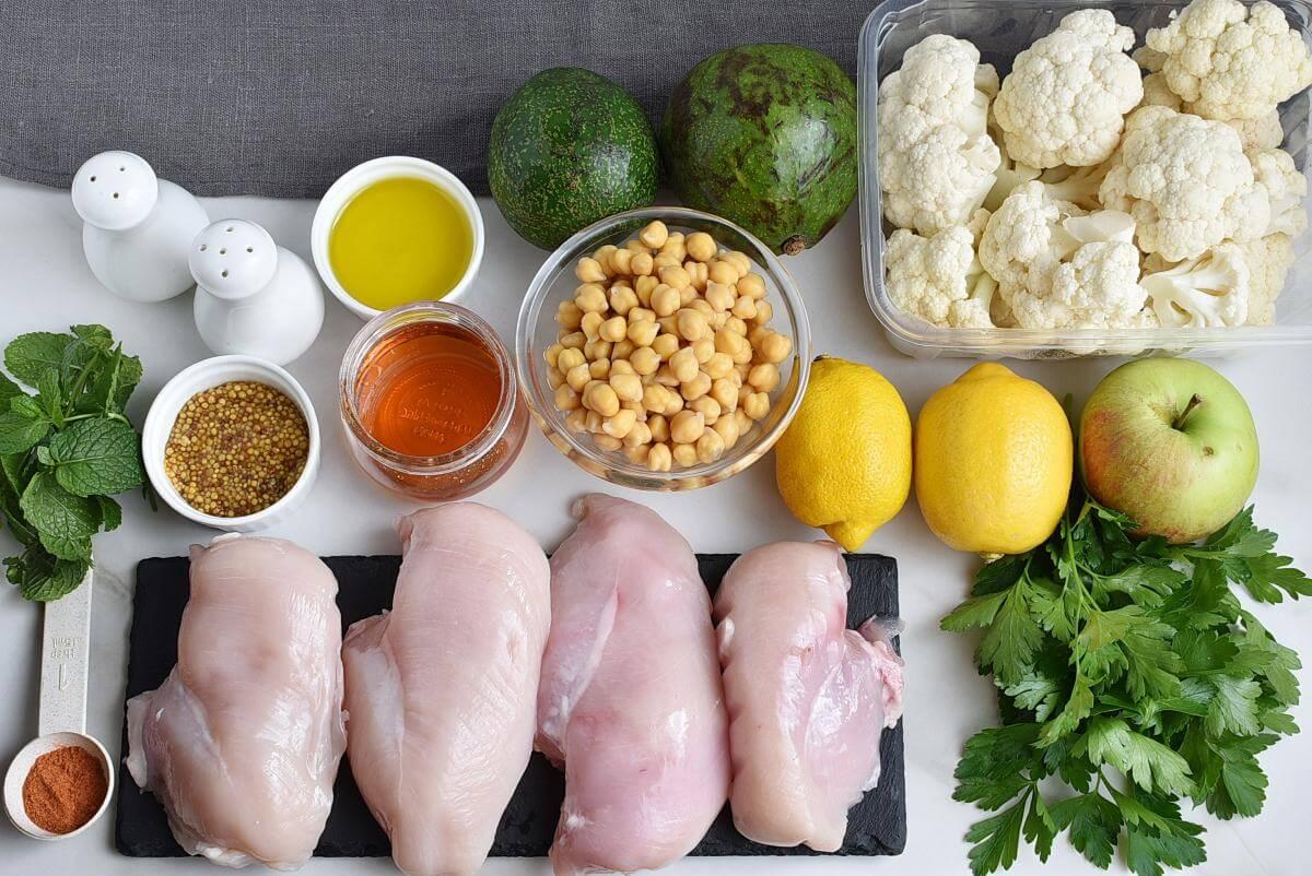 Chickpea Salad with Chicken, Apples, & Avocado Recipe–Homemade Chickpea Salad with Chicken, Apples, & Avocado–Delicious Chickpea Salad with Chicken, Apples, & Avocado