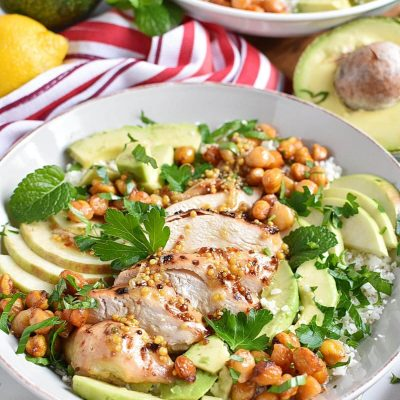Chickpea Salad with Chicken, Apples, & Avocado Recipe–Homemade Chickpea Salad with Chicken, Apples, & Avocado–Delicious Chickpea Salad with Chicken, Apples, & Avocado