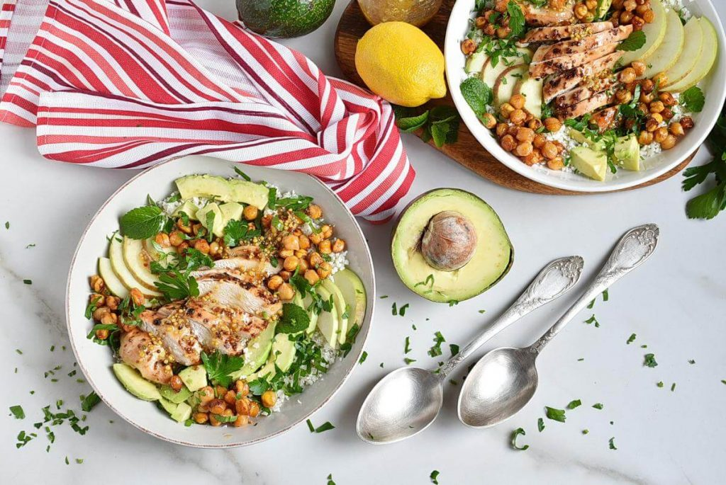 How to serve Chickpea Salad with Chicken, Apples, & Avocado