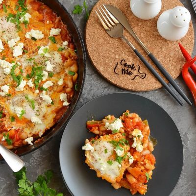 Easy Shakshuka with Feta Recipe-How To Make Easy Shakshuka with Feta-Delicious Easy Shakshuka with Feta