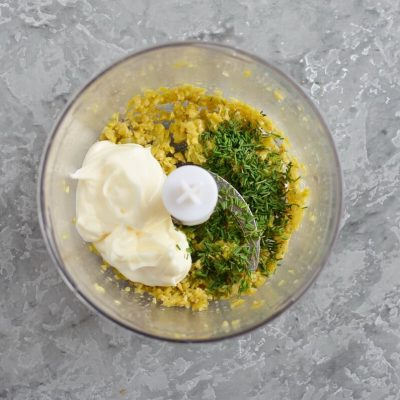 Eggs Mimosa with Olive Paste recipe - step 1