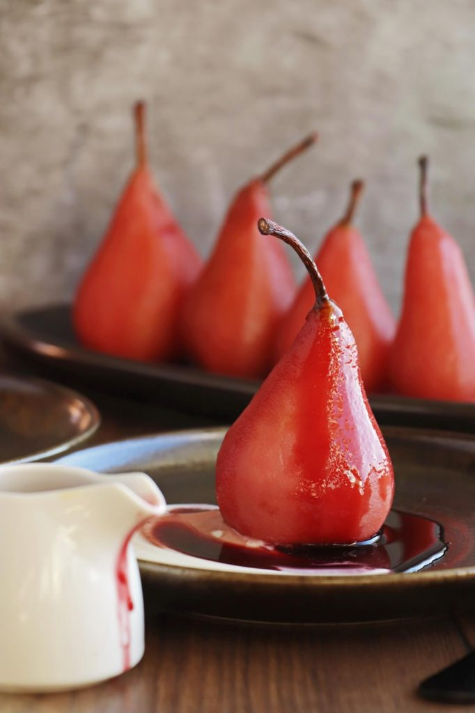 Sweet and Spicy Hibiscus Pears