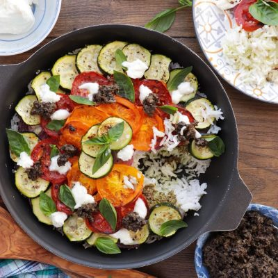 Mediterranean Vegetable Rice Recipe-Baked Mediterranean Rice-Roasted Mediterranean Vegetable Rice