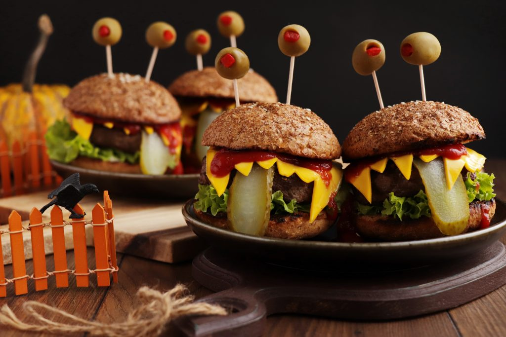 Monster Burgers Recipe-Halloween Food Ideas-Easy Halloween Burgers
