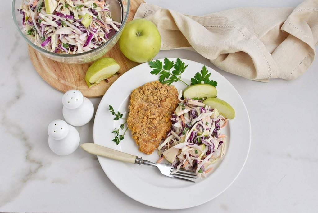 How to serve Oven-Fried Pork Cutlets with Apple Slaw