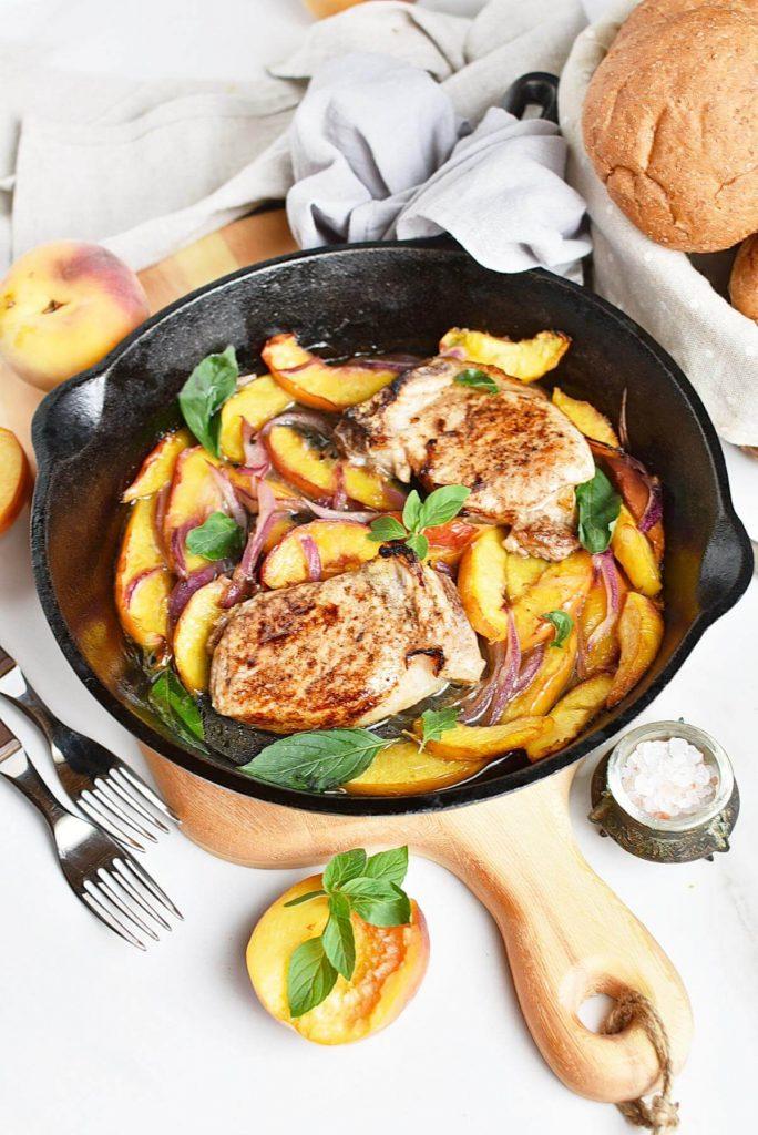 Delicious fruity pork