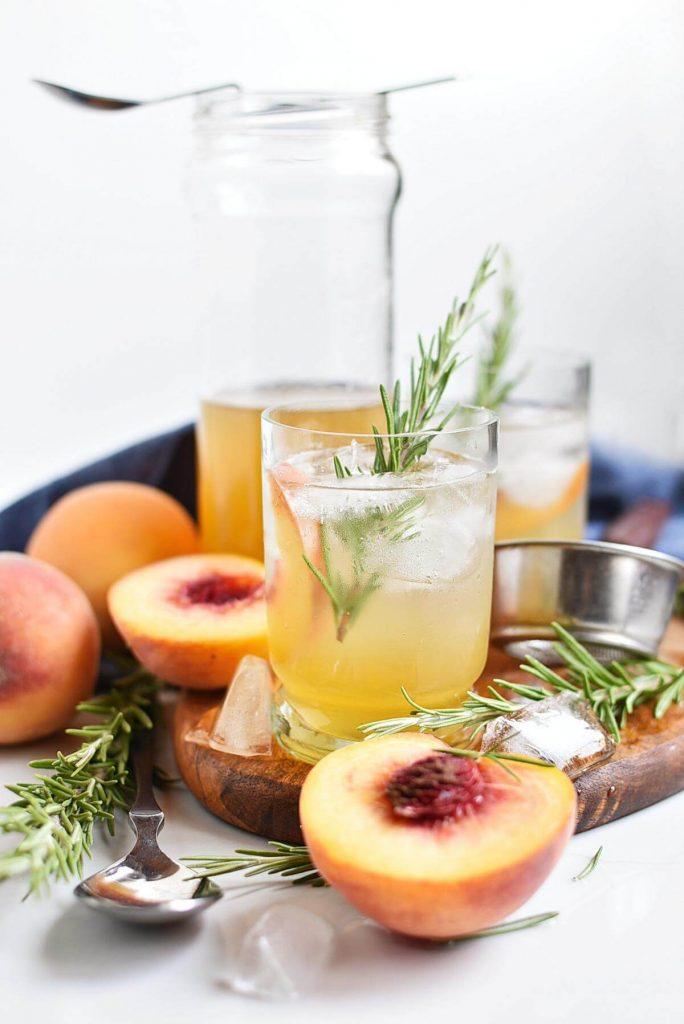 Peach-Rosemary Shrub Syrup