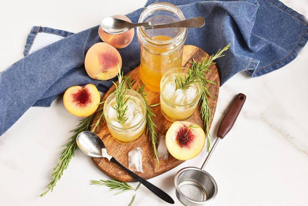 How to serve Peach-Rosemary Shrub Syrup