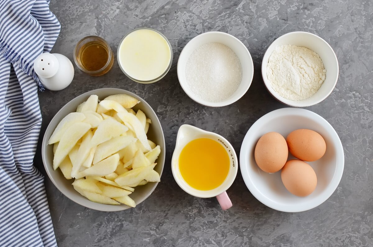 Ingridiens for Best Pear Custard Pie