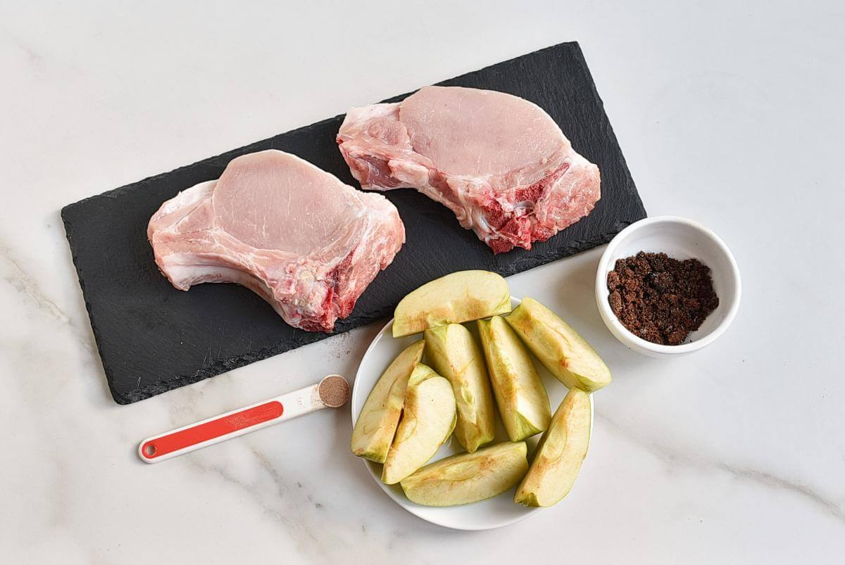 Ingridiens for Pork Chops and Apples