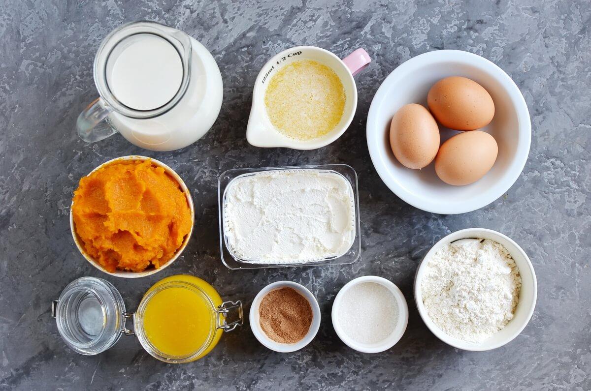 Ingridiens for Pumpkin Cheesecake Crêpes