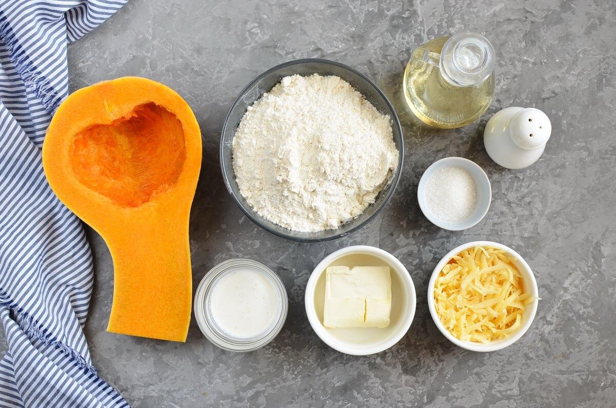 Ingridiens for Pumpkin & Cheese Scones