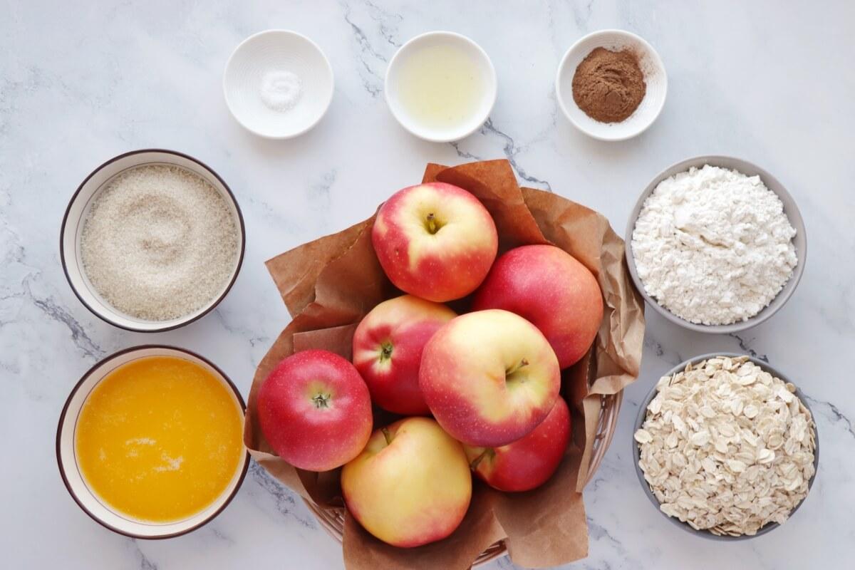 Sheet-Pan Apple Crumble Recipe-Sheet Pan Apple Crisp-Easy Crumble