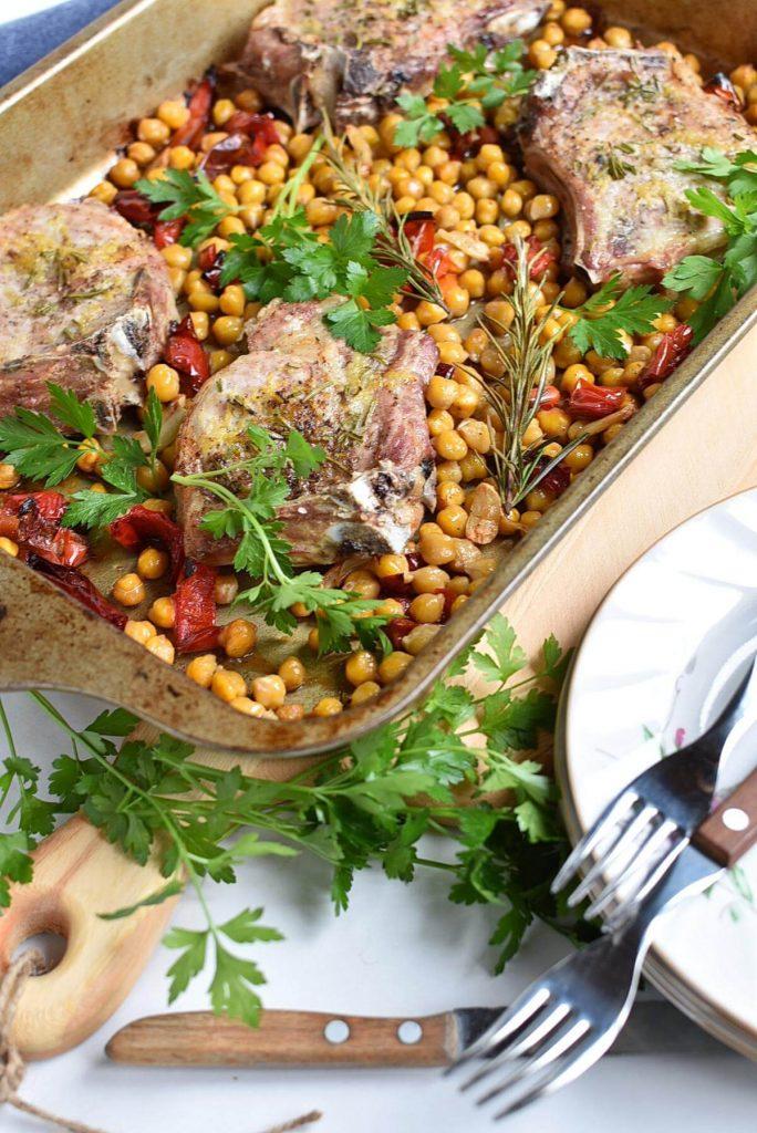 One Pan Rosemary-Garlic Pork Chops
