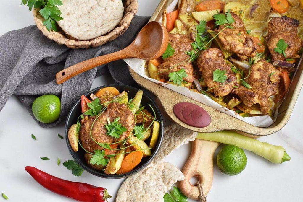 How to serve Sheet Pan Tandoori Chicken