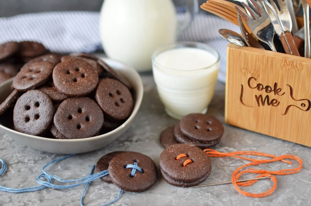 Spiced Chocolate Shortbread Buttons Recipe-How To Make Spiced Chocolate Shortbread Buttons-Delicious Spiced Chocolate Shortbread Buttons