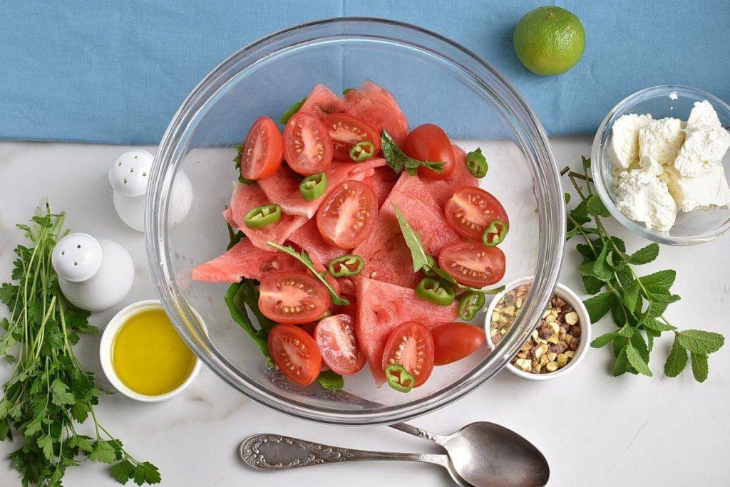 Spicy Watermelon, Ricotta & Tomato Salad recipe - step 1
