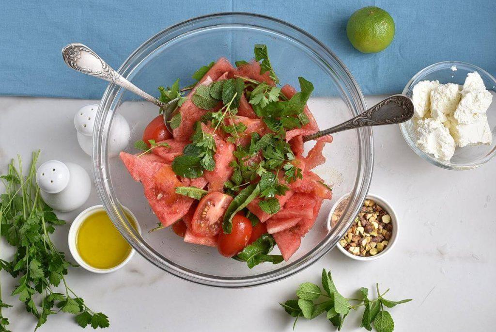 Spicy Watermelon, Ricotta & Tomato Salad recipe - step 2