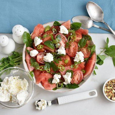 Spicy Watermelon, Ricotta & Tomato Salad recipe - step 3